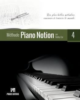 Couverture du quatrième livre de la méthode Piano Notion